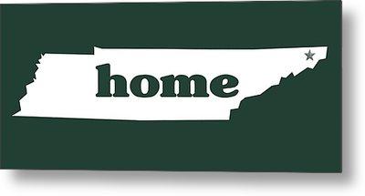 home TN on Green Metal Print by Heather Applegate