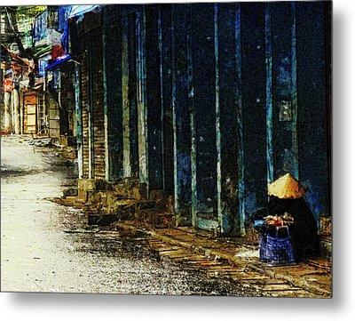 Homeless In Hanoi Metal Print