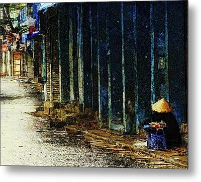 Homeless In Hanoi Metal Print by Cameron Wood