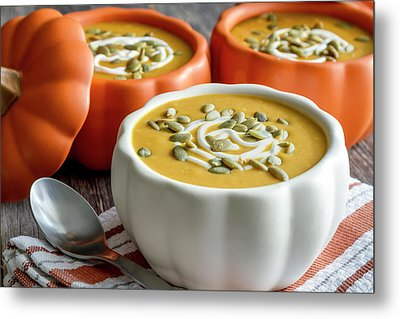 Homemade Pumpkin Soup Metal Print