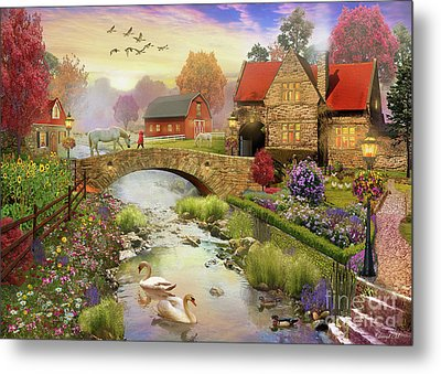 Homestead Metal Print by MGL Meiklejohn Graphics Licensing