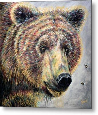 Honey Bear Metal Print by Teshia Art