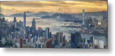 Hong Kong And Kowloon Metal Print by Anek Suwannaphoom