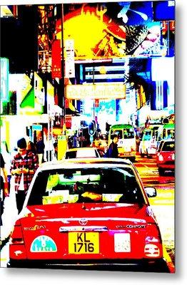 Hong Kong Cabs Metal Print by Funkpix Photo Hunter