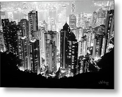 Hong Kong Nightscape Metal Print