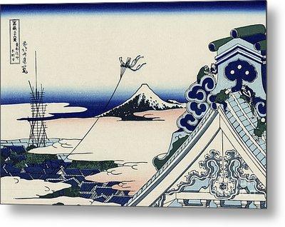 Honganji Temple At Asakusa In The Eastern Capital Metal Print
