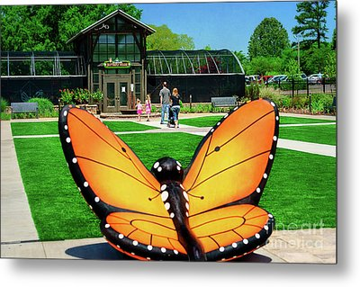 Honor Heights Butterfly House Metal Print by Tamyra Ayles
