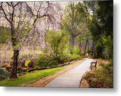 Metal Print featuring the photograph Honor Heights Pathway by James Barber
