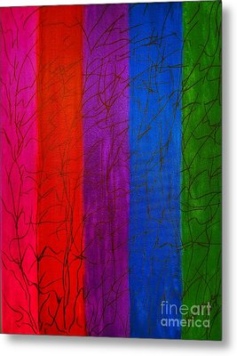 Honor The Rainbow Metal Print