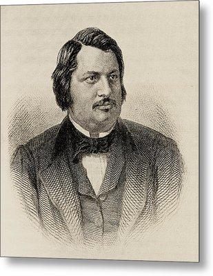 Honore De Balzac 1799-1850. French Metal Print