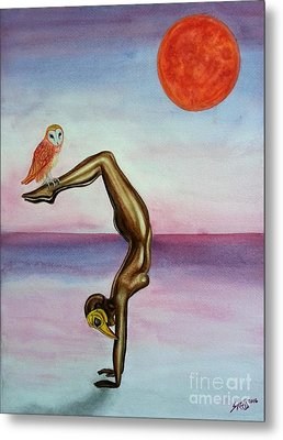Honoring Owl Metal Print by Steed Edwards