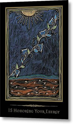 Honoring Your Energy Metal Print by Michelle Johnson