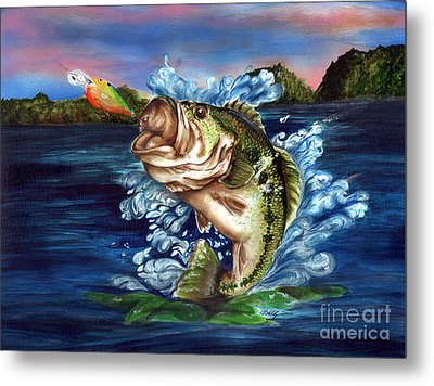 Hooked Metal Print by Kathleen Kelly Thompson