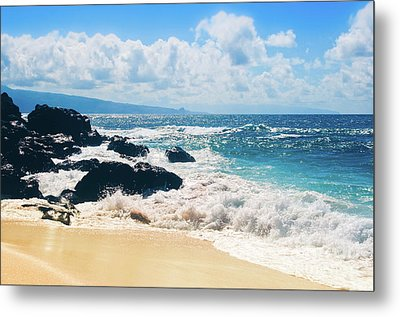 Metal Print featuring the photograph Hookipa Beach Maui Hawaii by Sharon Mau