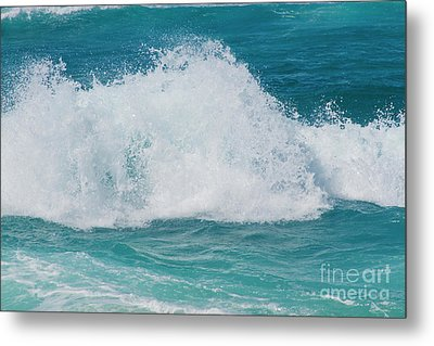 Metal Print featuring the photograph Hookipa Splash Waves Beach Break Shore Break Pacific Ocean Maui  by Sharon Mau
