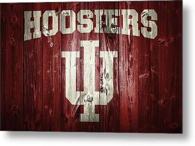 Hoosiers Barn Door Metal Print by Dan Sproul