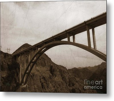 Hoover Dam Bridge Metal Print