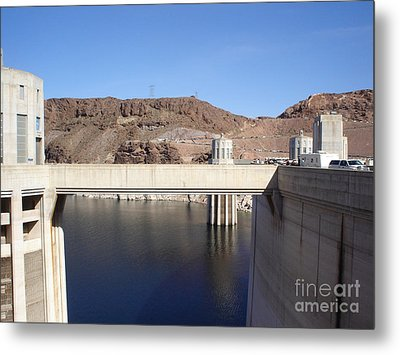 Hoover Dam Metal Print by Jacqueline Barth