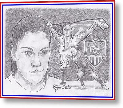 Hope Solo Metal Print by Chris DelVecchio