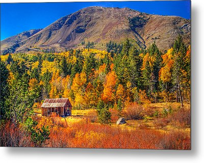Hope Valley California Rustic Barn Metal Print by Scott McGuire