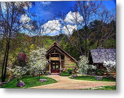 Hope Wilderness Chapel 2 Metal Print by Jean Hutchison