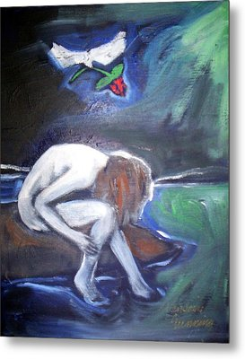 Metal Print featuring the painting Hope  by Winsome Gunning