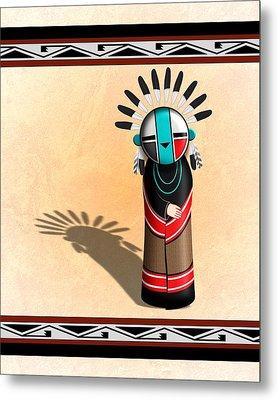 Hopi Sun Face Kachina Metal Print