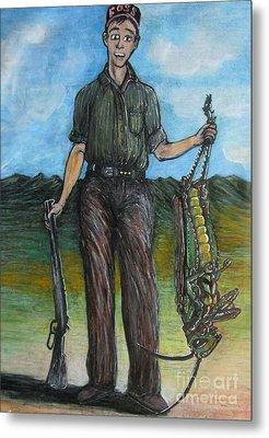 Hopper Hunt Metal Print by John Foss