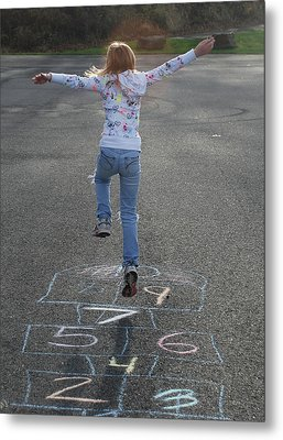 Metal Print featuring the photograph Hopscotch Queen by Richard Bryce and Family
