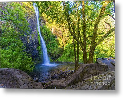 Metal Print featuring the photograph Horesetail Falls by Jonny D