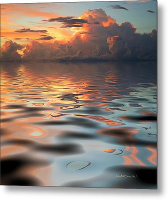 Horizon Of Storm Metal Print