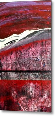 Metal Print featuring the painting Horizon X 3 by Carolyn Repka