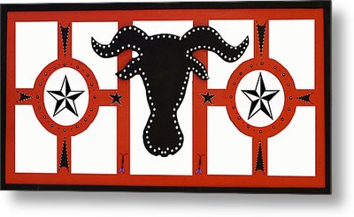 Metal Print featuring the mixed media Horn Time In Texas by Robert Margetts