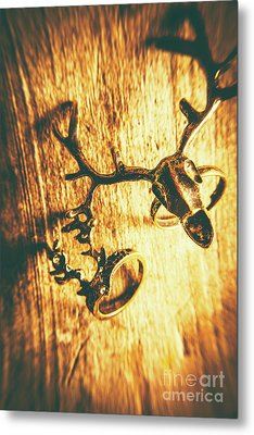 Horned Animal Rings Metal Print