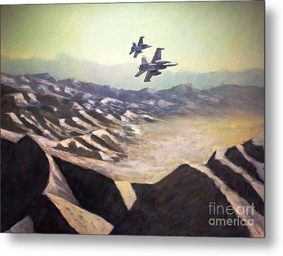 Hornets Over Afghanistan Metal Print by Stephen Roberson