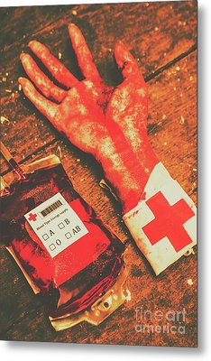 Horror Hospital Scenes Metal Print