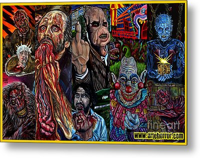 Horror Metal Print by Jose Mendez