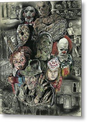 Horror Movie Murderers Metal Print