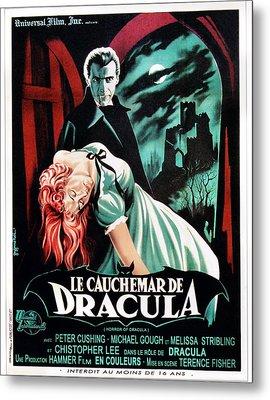 Horror Of Dracula Aka Le Cauchemar De Metal Print