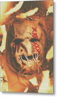 Horror Scarecrow Portrait Metal Print by Jorgo Photography - Wall Art Gallery