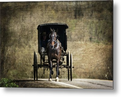 Horse And Buggy Metal Print by Tom Mc Nemar