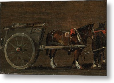Horse And Cart Metal Print by MotionAge Designs