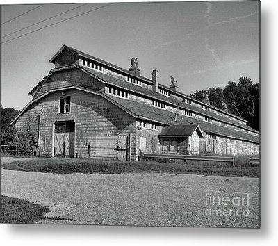 Horse Barn Exited Metal Print