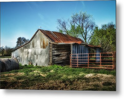 Horse Barn In Color Metal Print by James Barber