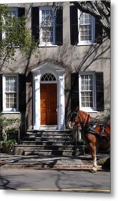Horse Carriage In Charleston Metal Print