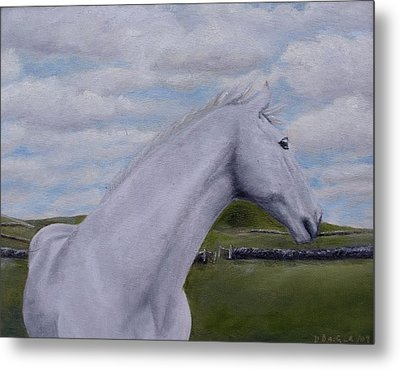 Metal Print featuring the painting Horse by Diane Daigle