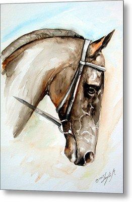 Horse Head Metal Print by Leyla Munteanu