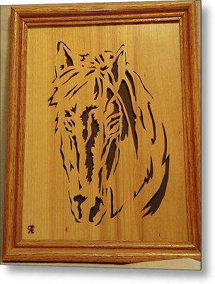 Horse Head Metal Print by Russell Ellingsworth
