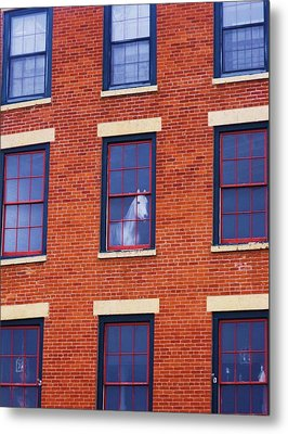 Horse In An Upstairs Window Metal Print by Anna Villarreal Garbis