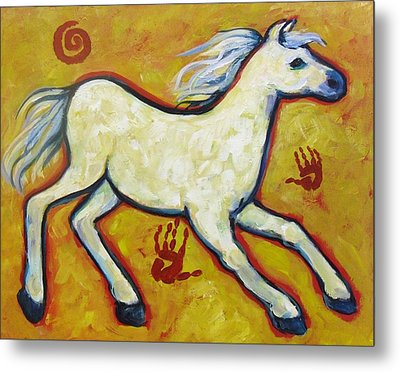 Horse Indian Horse Metal Print by Carol Suzanne Niebuhr